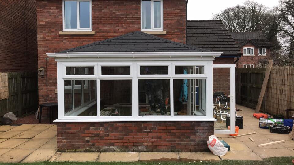 White Conservatory Conversion