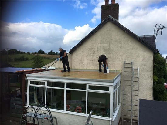 Flat Conservatory Roof Conversion in progress